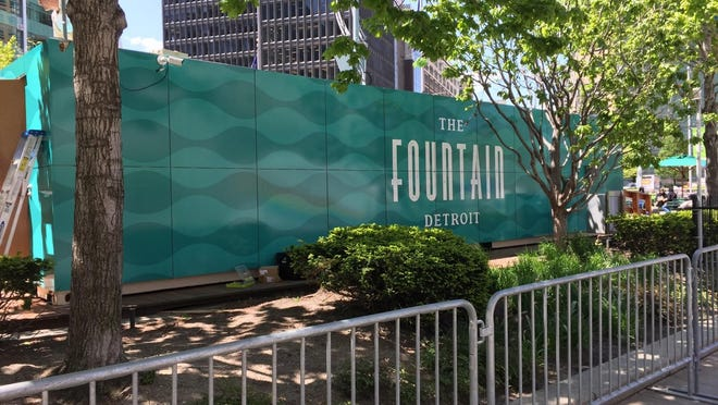 Fountain Detroit is an eatery made out of repurposed shipping container, which is set to open this month.