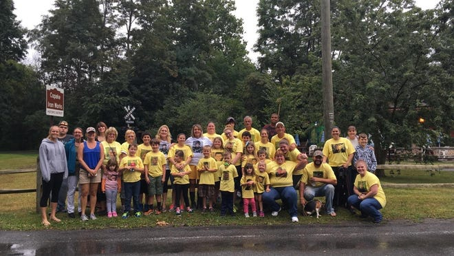 Participants in the recent Jacob Stickle 5K event to raise funds for childhood cancer.