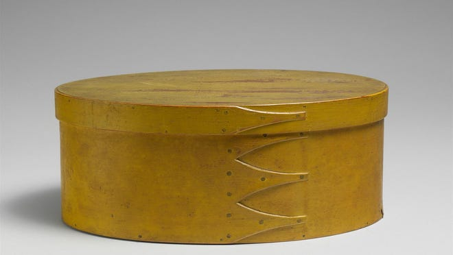 """""""The Oval Box""""; American, 1800-1900."""