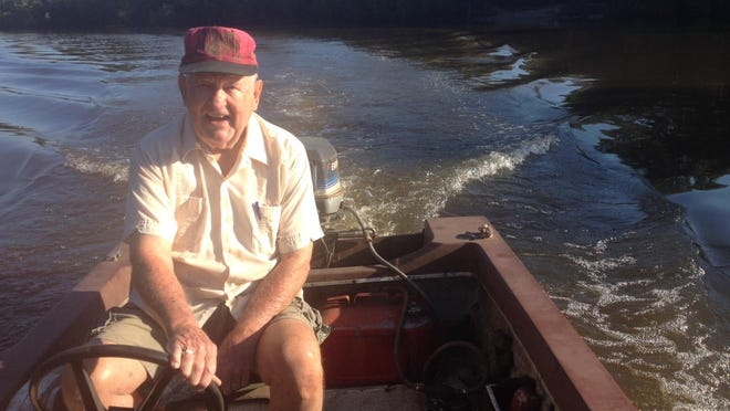 Former Escambia County Commissioner Sam Armour fishes on the Escambia River.