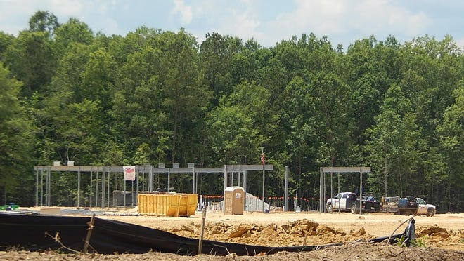 The Etowah County Mega Sports Complex project is off the ground, as the construction company has begun work on the concession stand building and restroom facilities for the complex in Rainbow City between Lumley Road and Alabama Highway 77.