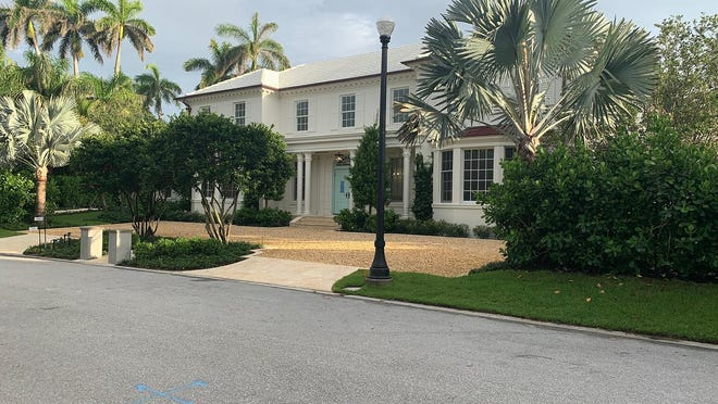 A never-lived in house developed on speculation as sold for a recorded $14.25 million at 255 Emerald Lane on the near North End of Palm Beach.