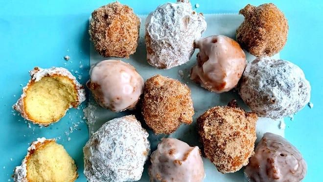 Homemade doughnut holes.