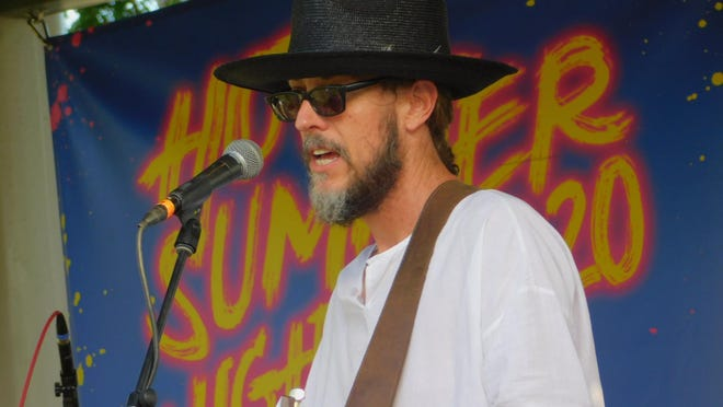 Oliver White performs during the first show of the 2020  Hot Summer Nights concert series in Sherman Thursday.