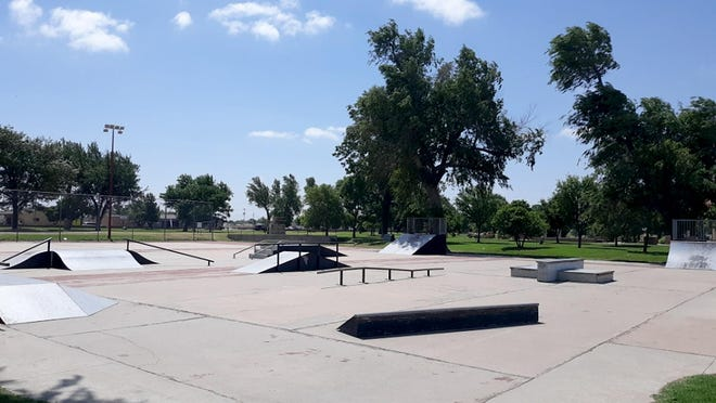 Trenton Lippoldt, 15, is working with Dodge City officials and the community to make repairs to the skate park in Wright Park that hasn't seen improvements made since its inception in 2003.