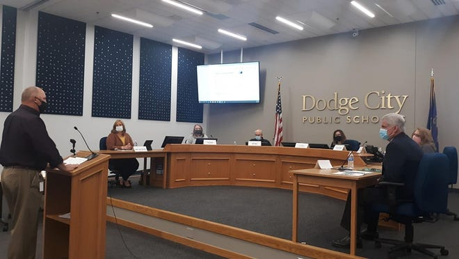 At the recommendation of director of safety and security Shawn Lampe, the Dodge City USD 443 Board of Education voted on Sept. 28 to remove pre-entry temperature screenings from all USD 443 facilities, including for event staff and guests.