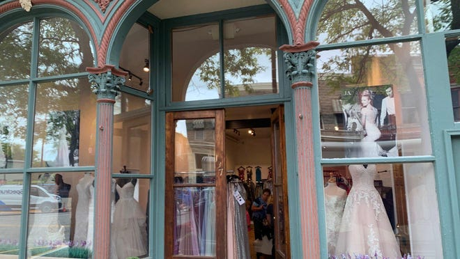 Annie Lane Bridal's new location in Allegan. The storefront will open to the public Thursday, Oct. 1.