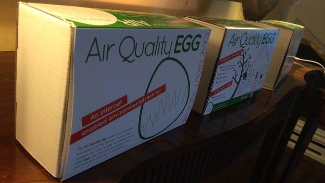 Air Quality Egg box.