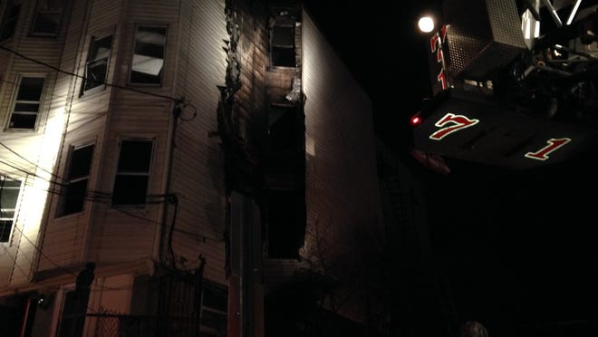 A fire heavily damaged a 3-story apartment house at 174 Linden St. in Yonkers early Sunday morning.