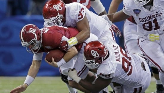 After beating Alabama in the Sugar Bowl, Oklahoma is considered a national title contender as evidence of the Sporting News picking them as its preseason No. 1