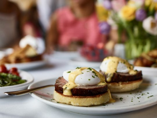 Eggs Benedict at Fleming's Prime Steakhouse & Wine