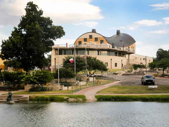 The San Angelo Museum of Fine Arts sits along the Concho