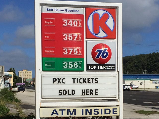 Circle K Gas Prices >> Gas Prices Questioned Sen Aguon Asks Ag To Look Into Prices