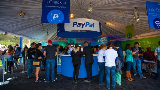 The PayPal tent at the Outside Lands Festival  in San Francisco.