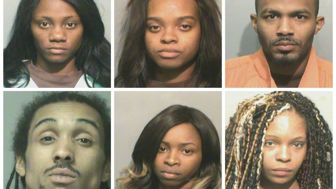 Six people were arrested in a prostitution sting Wednesday night.