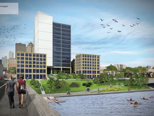 Rendering of the Central Court project by Iowa State