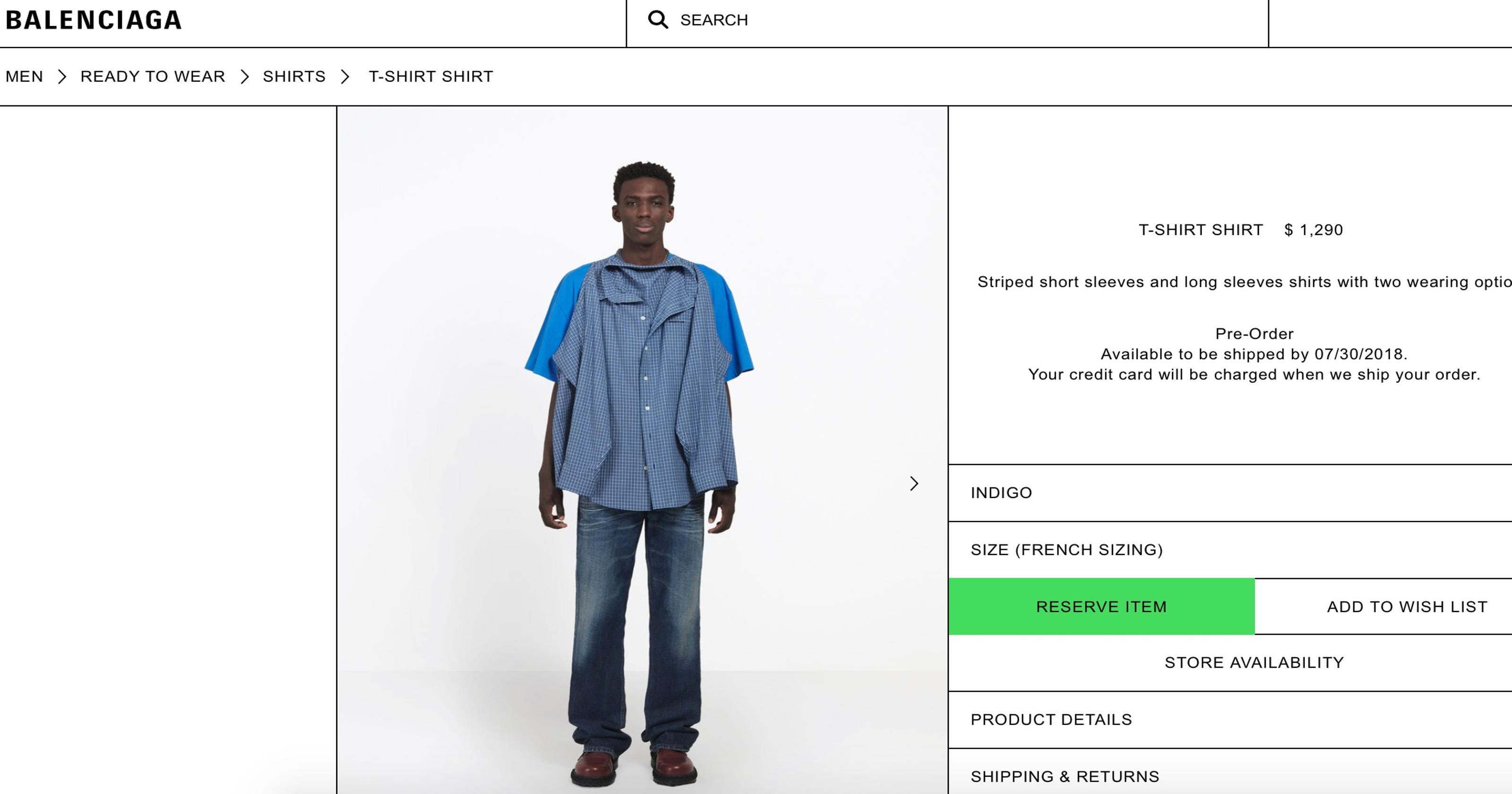5e59a52ef2bedb Balenciaga sewed a button-down shirt onto a T-shirt and people aren t  having it