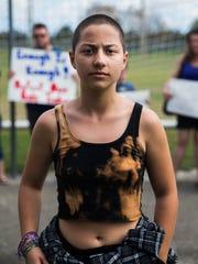 Emma González, 18, a senior at Marjory Stoneman Douglas