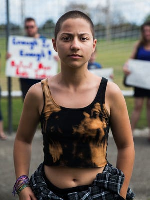 Emma González was a senior at Marjory Stoneman Douglas High School when the mass shooting occurred.