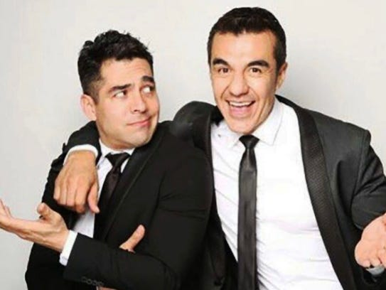 Omar Chaparro and fellow comedian Adrian Uribe bring