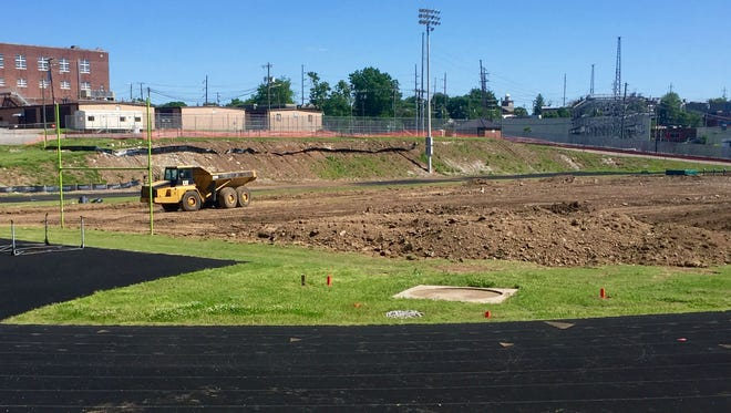 The new football stadium at East Nashville High is scheduled to be completed by August.