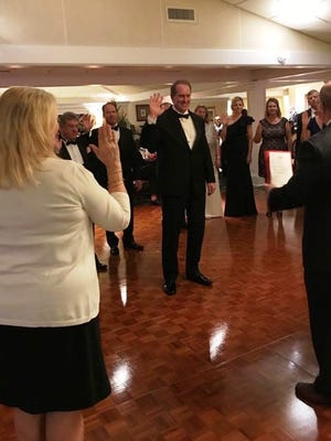 Rob Gluckman is sworn in as chairman of the Stuart/Martin County Chamber of Commerce.
