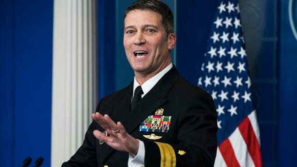 Dr. Ronny Jackson speaks about the physical exam conducted