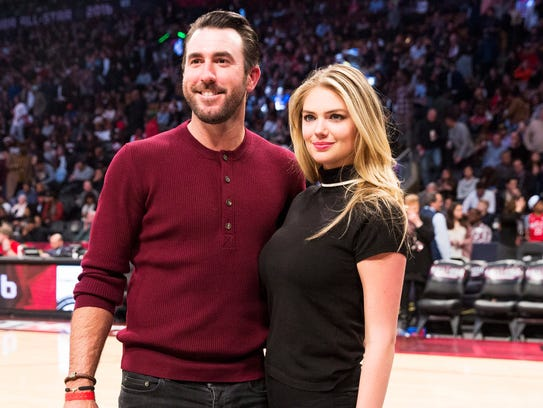Detroit Tigers pitcher Justin Verlander, left, and