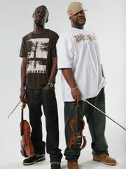 Wil B (left) and Kev Marcus are Black Violin, which will play Warren Performing Arts Center on May 4, 2014.