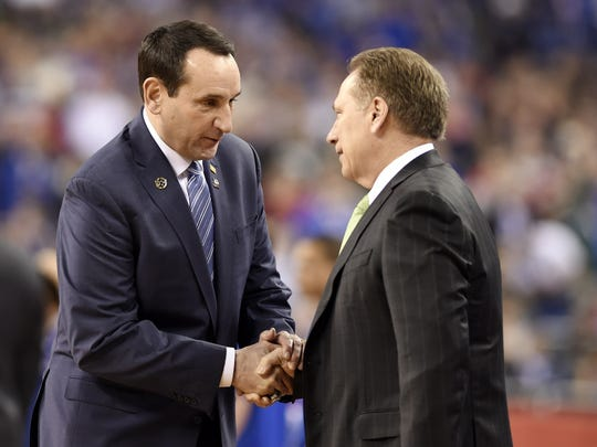 An NCAA tournament final between Duke (and coach Mike Krzyzewski) and Michigan State (and coach Tom Izzo) would be a gift for all.