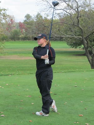 Brighton's Emme Darkowski shot the best two rounds of her career in the state Division 1 golf tournament, shooting 84-81-165.