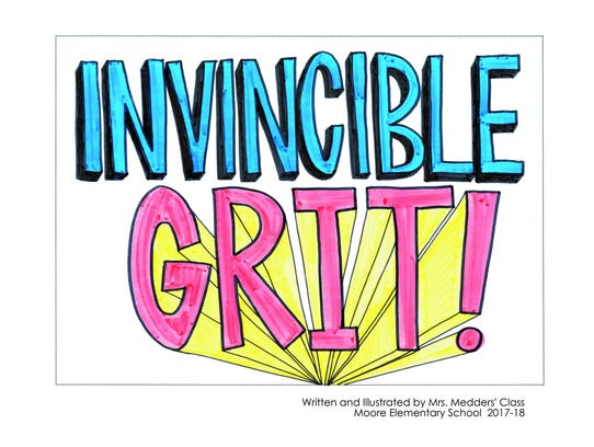 """Invincible Grit"" is a book written by first-grade"