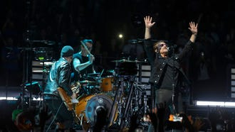 U2 rock the Prudential Center in Newark NJ on their Experience and Innocence Tour.