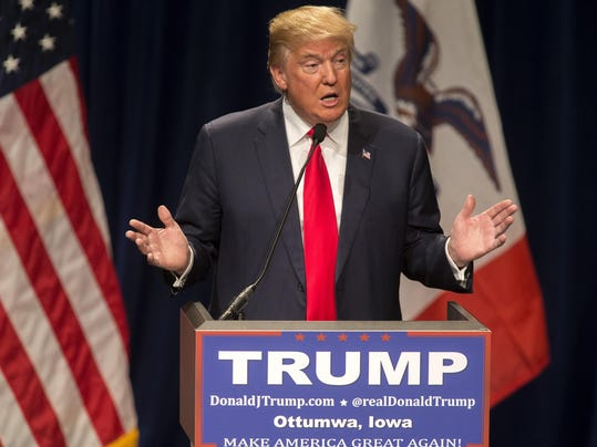 Donald Trump Holds Campaign Rally In Iowa