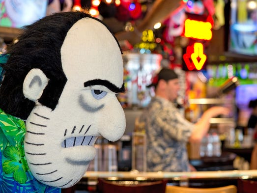 """Take a look inside Dick's Last Resort, the new restaurant opening at Newport on the Levee. The national chain brands itself as """"The Joint Yer Mama Warned You About."""" Dick's imfamous mascot."""