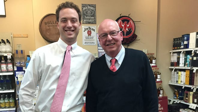 Matt and Jim Yaeger at Pinnacle Wine and Liquor in Brighton.