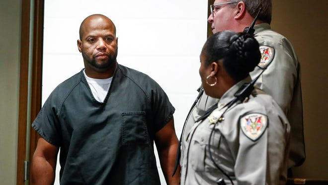 Defendant Billy R. Turner enters Judge Lee Coffee's courtroom in Shelby County Criminal Court for his arraignment in the killing of former NBA player Lorenzen Wright in 2010.