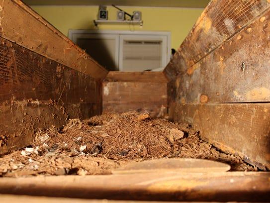 The original casket belonging to Lee Harvey Oswald