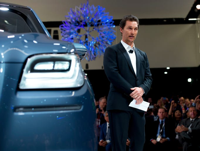 Matthew McConaughey speaks about the Lincoln Navigator