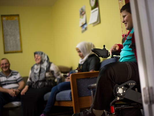 Syrian refugee who lost his leg in airstrike gets donated wheelchair