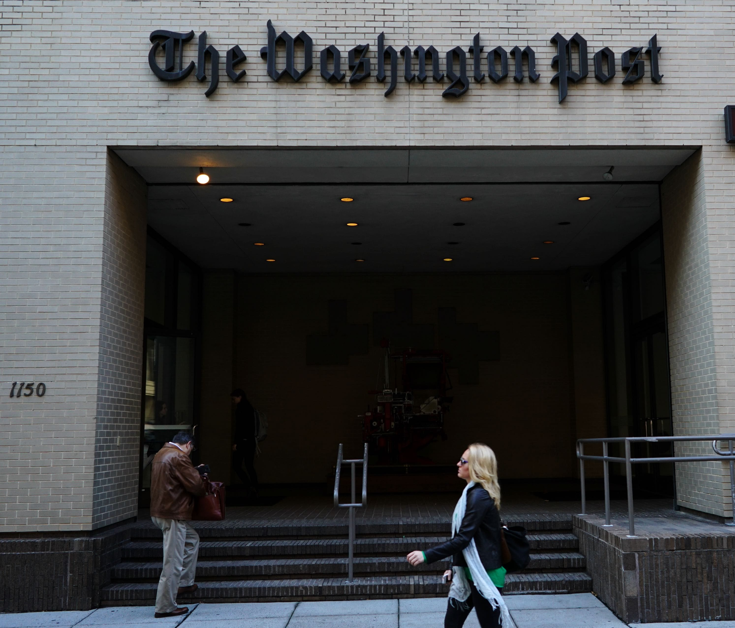 The front of the Washington Post building.