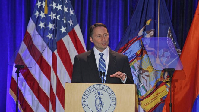 Westchester County Executive Rob Astorino delivers the State of the County address at the Westchester County Courthouse May 1, 2014.