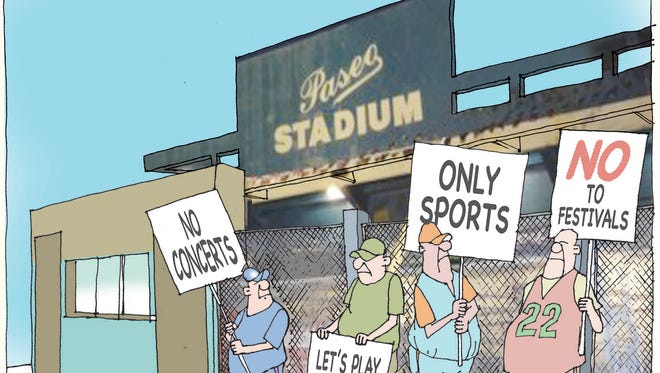 Should Paseo Stadium be restricted to sporting events?