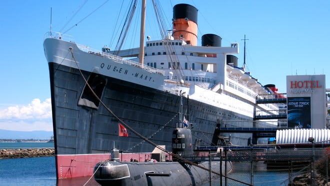 Now a cherished hotel, museum and tourist attraction in Long Beach, California, the Queen Mary, is without a doubt, the most famous ocean liner of all time (that did not meet with disaster).  It measures 81,000 gross tons and has a length of 1,019 feet with a beam of 118 feet.
