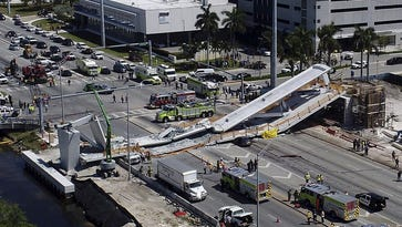 A new bridge collapsed in Florida today. Has anything like that happened in Springfield?