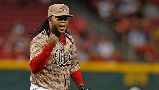 Johnny Cueto became the fourth Red since 1914 to hit 12 strikeouts in fewer than 6 innings.