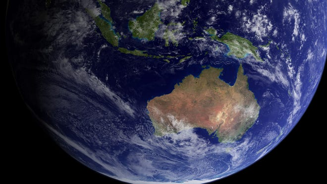 Researchers say that part of what's now Australia was part of present-day North America.