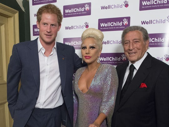 Prince Harry meets Lady Gaga and Tony Bennett prior