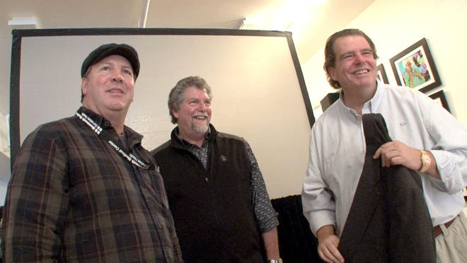 Tom Donovan (left), publisher of the Asbury Park Press and APP.com, with documentary filmmaker Tom Jones (right) and Joe Petillo (center), a musician who performed at the landmark Upstage Club in Asbury Park.