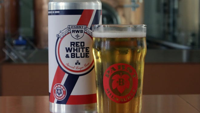 Pabst Milwaukee Brewery and Taproom brings back Red White & Blue light lager.